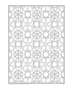 Page from Snowflakes Coloring Book for Adults