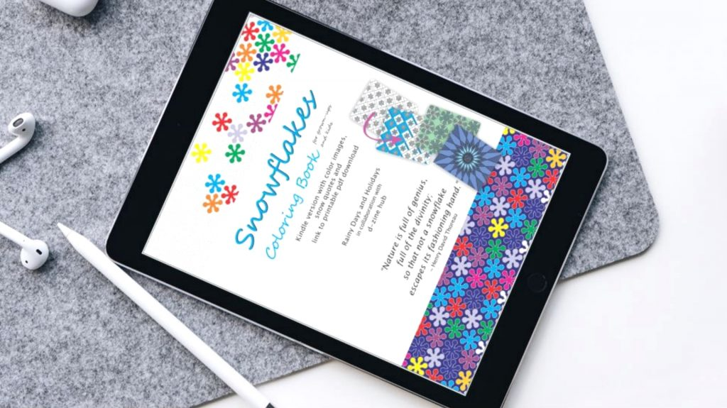 fc4924ddf Snowflakes Coloring Book (for Grownups and Kids)