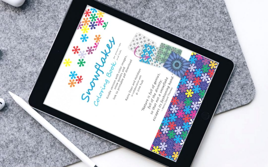 Snowflakes Coloring Book (for Grownups and Kids) Digital Version is Live!
