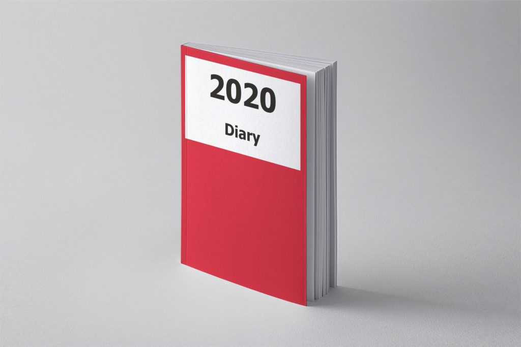 Image of 2020 Large Print Diary with Red Cover
